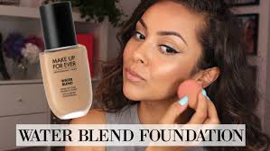 makeup forever water blend foundation first impression review trinaduhra you
