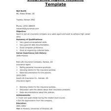 Resume Samples Insurance Agent Valid Insurance Broker Resume Sample