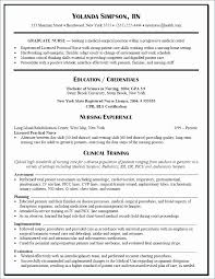 Medical Surgical Nurse Resume Terrific Med Surg Rn Resume Examples