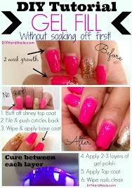 super easy diy gel fill to refresh your natural nails for another two week wear love this