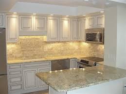 Picasso Travertine Tile Kitchen Backsplash | Floor Decor Client ...