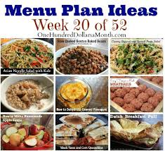 Weekly Meal Planning For One Weekly Meal Plan Menu Plan Ideas Week 20 Of 52 One