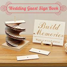 Sign Book For Wedding Wedding Guest Sign Book Scrapb Book Weddings Party Decoration Wooden Guestbook Ebay