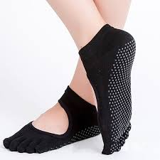 Reallion <b>Women</b> Yoga Socks <b>Anti</b>-<b>slip</b> Five Fingers Backless ...