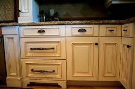 Mesmerizing Kitchen Drawer Cup Pulls and Oil Rubbed Bronze Cabinet Hardware  with Waterfall Granite Countertop Edge