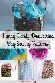 Drawstring Bag Pattern Beauteous 48 Handy Dandy Drawstring Bag Sewing Patterns Tutorials