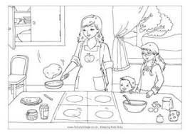 Small Picture Pancake Day Colouring Pages