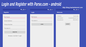 Login and Register with Parse.com - Android 2016