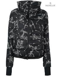 Succinct Moncler Jackets Jacket Grenoble Womens Printed Padded
