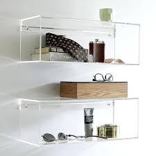 acrylic wall shelf unit mountable elegant decorative