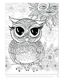Owl Color Pages Cute Halloween Coloring Staranovaljainfo