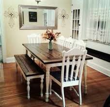 farmhouse table bench farmhousetable