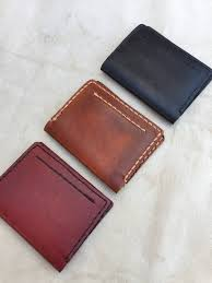 Leather Cardholder Wallet Handmade Vegetable Tanned Leather