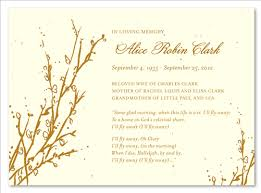 Memorial Announcement Cards Tree Theme Funeral Cards Memorial Branches Seeded Paper By