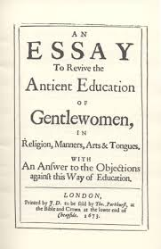 an essay to revive the antient education of gentlewomen in   title page an essay