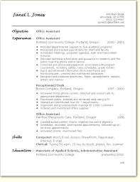 Office Assistant Resume Classy Resume Examples For Office Nice Office Assistant Resume Sample