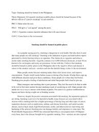 argumentative essay on smoking