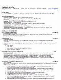 skill based resume sample database administrator