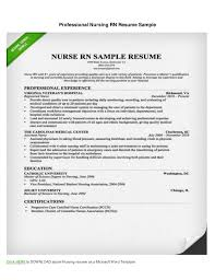 registered nurse sample resumes how to write a nursing rn resume