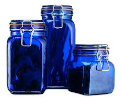 kitchen canister set blue glass kitchen canisters sets teal canister set sugar ceramic mason jar clear