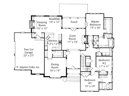 house plans with rooms on same side