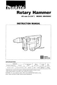 makita hr4500c power hammer user manual graco baby