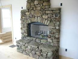 how to build a river rock fireplace for awesome building stone designs