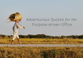 Quotes About Purpose Mesmerizing Adventure Quotes Worthy Of The Wall For A PurposeDriven