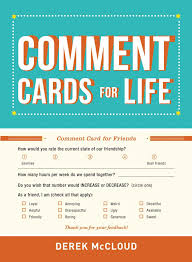Comment Cards Comment Cards For Life Amazon Co Uk Derek Mccloud 0045079586321
