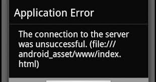 Solution to the connection to the server was unsuccessful. (file ...