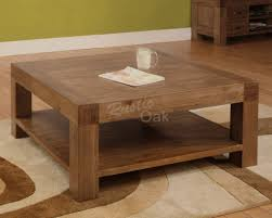 Superior Furniture, Brown Lacquered Wood Square Rustic Coffee Table With Shelf  Design Ideas To Complete Your