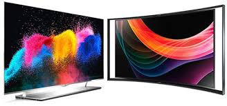 samsung oled tv. lg 55em9700 and samsung kn55s9 (right) oled tv a