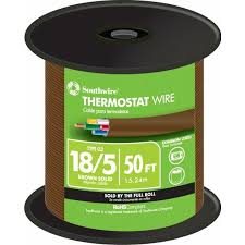 shop 50 ft 18 awg 5 conductor thermostat wire by the roll at 50 ft 18 awg 5 conductor thermostat wire by the