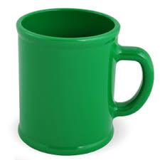 "<b>Кружка</b> ""Радуга""; зеленая, D=7,9см, H=9,6см, 300мл; пластик"