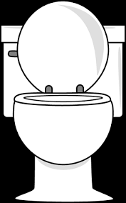 bathroom clipart black and white. Interesting Bathroom White Toilet With Lid Up Intended Bathroom Clipart Black And I