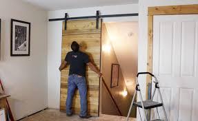 how to make a sliding barn door diy pete