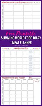Slimming World Food Diary Printable Slimming World Diet