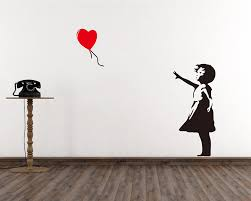 on banksy wall art sticker with banksy wall decals vinyl wall art stickers