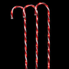 Green Candy Cane Pathway Lights Home Accents Holiday 27 In Lighted Candy Canes Set Of 3