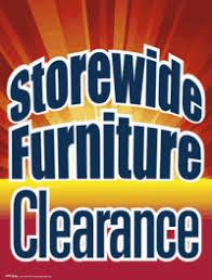 furniture sale sign. Plastic Window Sign: Storewide Furniture Clearance Sale Sign R