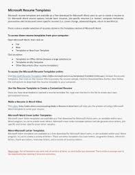 Microsoft Word Cover Letter Template Download Resume Templates