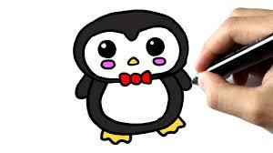Comment Dessiner Un Pingouin Kawaii Tutoriel Youtube