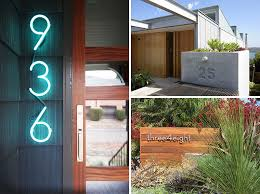 modern mailbox numbers. Wonderful Numbers 10 Modern House Number Ideas To Dress Up Your Home Inside Mailbox Numbers