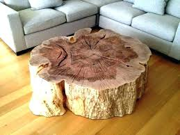 wood stump coffee table tree trunk best of on round top glass dining wo