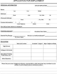 Job Application Form Pdf Download For Employers Job