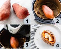air fryer sweet potato whole potato