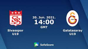 Sivasspor U19 vs Galatasaray U19 live score, H2H and lineups