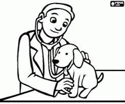 De Dierenarts En De Hond Kleurplaat Hond Animals For Kids