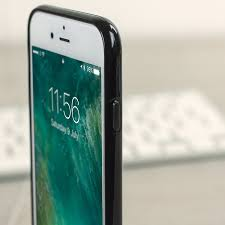iphone 7 jet black. olixar flexishield iphone 8 / 7 gel case - jet black iphone