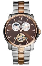 kenneth cole round the clock kc3776 men s chronograph date moon kenneth cole men s round the clock watch